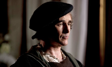 Mark Rylance as Thomas Cromwell in the BBC's adaptation of Hilary Mantel's novel Wolf Hall, which is up for best mini-series. He is nominated for best actor.