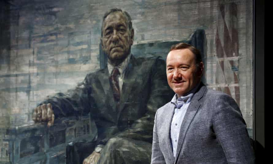 Actor Kevin Spacey beside his House of Cards portrait at its unveiling at the Smithsonian's National Portrait Gallery in Washington February 22, 2016.