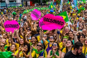 A rally in support of Jair Bolsonaro.
