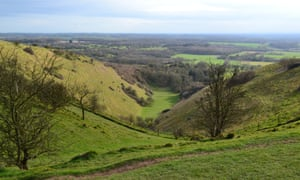 The Devil's Kneading Trough on the North Downs Way.