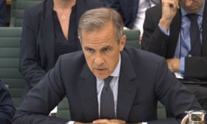 Mark Carney appears before Treasury select committee on Tuesday.