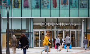 Debenhams at the Rock shopping centre in Bury, Greater Manchester. The retailer plans to close at least 22 of its 166 UK stores