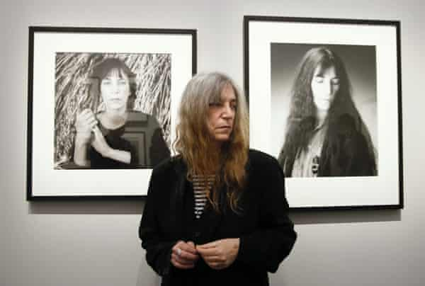 Patti Smith at a Paris exhibition of Robert Mapplethorpe's work in 2014.