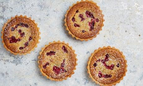 Tamal Ray's recipe for pistachio and redcurrant frangipane tarts