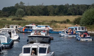Boats on River Ant in the Norfolk Broads