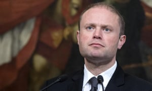 Malta prime minister Joseph Muscat. The journalist had published posts alleging corruption by prime minister Muscat and his associates.