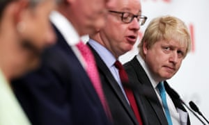 Michael Gove and Boris Johnson during a Vote Leaven campaign visit.