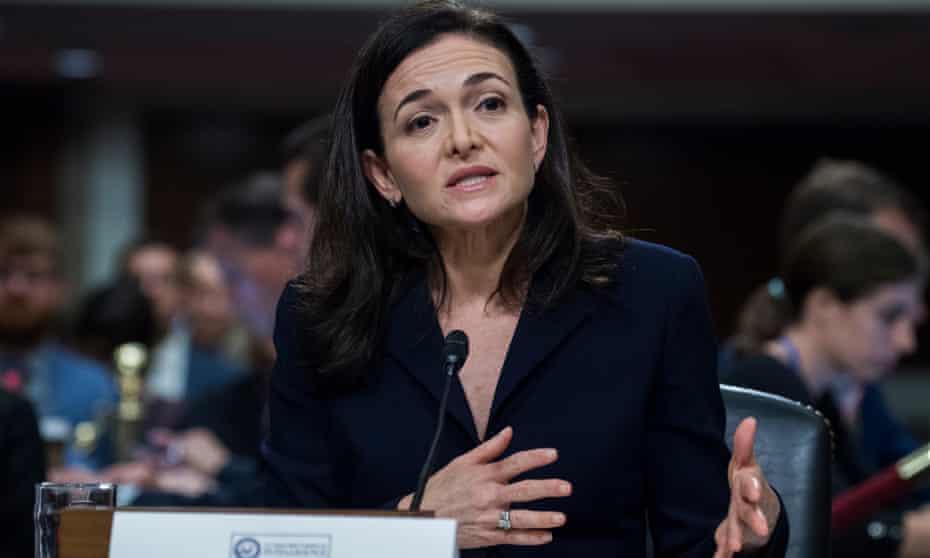 Chief operating officer Sheryl Sandberg