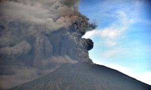 Mount Agung during an eruption