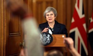 Prime minister Theresa May holds a press conference at 10 Downing Street, London, to discuss her Brexit plans