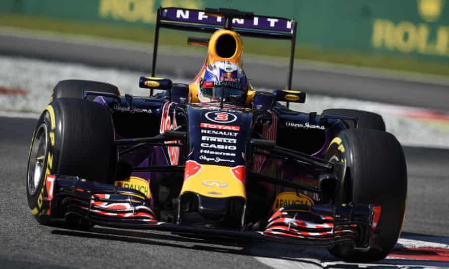 Red Bull's Daniel Ricciardo started the Italian Grand Prix 19th on the grid because of engine penalties but finished eighth.