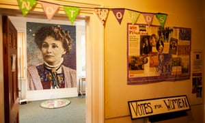 Inside the Pankhurst Centre in Manchester, the birthplace of the suffragette movement