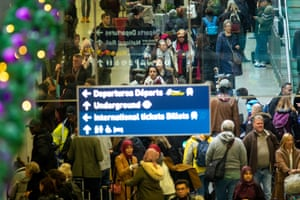 Queues at St Pancras station in London in the run-up to Christmas last year.