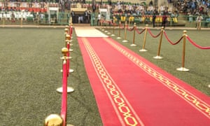 Rolling out the red carpet for the opening ceremony of the 25th edition of Fespaco.