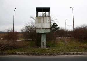 The abandoned sentry box near Nickelsdorf, Austria, at the crossing with Hungary