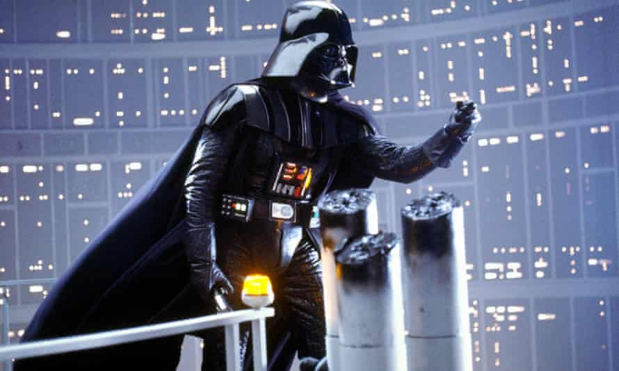 David Prowse as Darth Vader in The Empire Strikes Back, 1980.