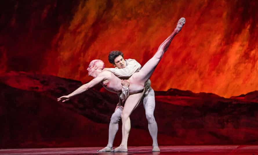 'His dancing is eloquent in its anguish': Steven McRae, left, as the Creature with Federico Bonelli as Victor Frankenstein.