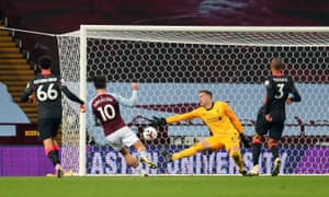 Aston Villa's Jack Grealish scores his side's seventh goal