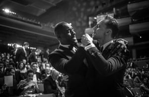 Idris Elba and Tom Hiddleston make light of the endless speculation that pits them against each other for the famous role