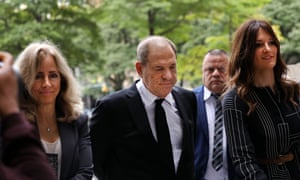 Harvey Weinstein arrives to court with his lawyer for arraignment over a new indictment for sexual assault on 26 August 2019 in New York City.