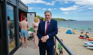 Keir Starmer on a visit to Falmouth today.