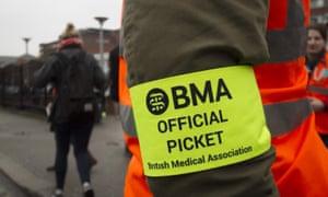A BMA picket steward