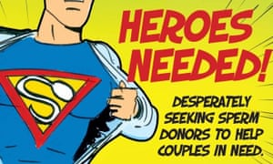Advertisement by Fertility Associates New Zealand calling for men to 'be a hero' and donate their sperm.