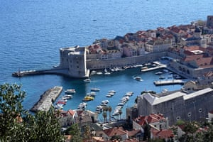 The old port of the city of Dubrovnik