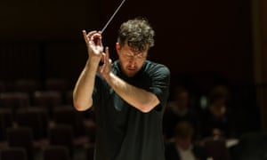Adès conducting the City of Birmingham Symphony Orchestra in 2012.