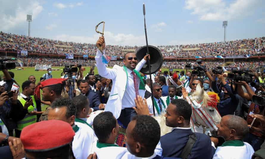 Ethiopian PM Abiy Ahmed campaigning in Jimma last week.