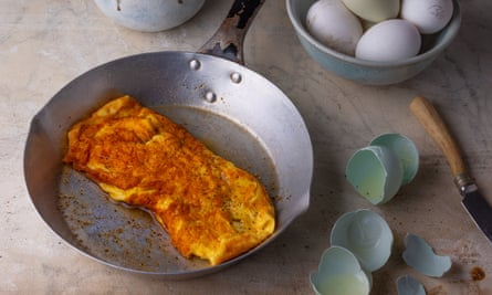 Omelette moliere from An Omelette and a Glass of Wine by Elizabeth David. The Observer Food Monthly 20 best egg recipes.