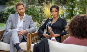 Harry and Meghan in the interview with Oprah Winfrey