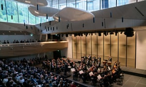 The Berlin Philharmonic inaugurate Switzerland's new Andermatt concert hall.