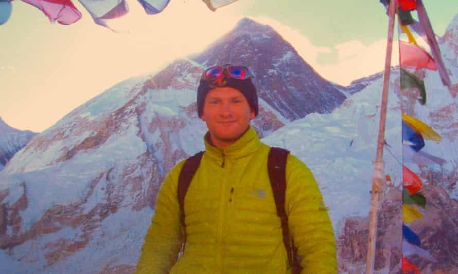 Richard Mayne climbing in mountains