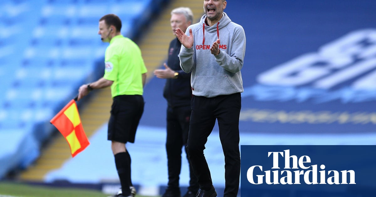 Pep Guardiola targets 'eight, nine or 10' wins for Manchester City to regain title