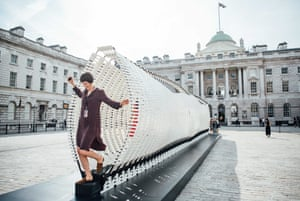 'Disobedience' by Nassia Inglessis at the Greek Pavilion. An installation at the London Design Biennale at Somerset House, London