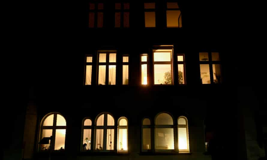 Residential building at night