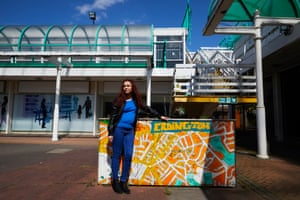ERDINGTON, 3 May 2017 - Local author Collette Elliott in the near deserted Central Square shopping centre in Erdington, north Birmingham in the run up to the general election. Labour's Jack Dromey has been the constituency's MP since 2010. Christopher Thomond for The Guardian.