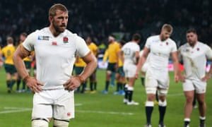 Chris Robshaw, then England captain, reacts after the 33-13 defeat to Australia sealed the hosts' early exit from the 2015 World Cup.