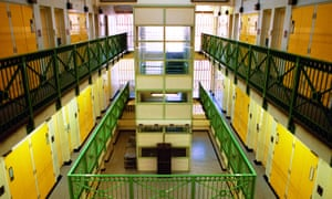Empty landing at Bedford prison