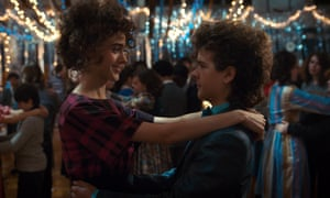 """Stranger Things"" (Season 2) TV Series - 2017Editorial use only. No book cover usage. Mandatory Credit: Photo by Netflix/Kobal/Shutterstock (9309863bq) Natalia Dyer, Gaten Matarazzo ""Stranger Things"" (Season 2) TV Series - 2017"