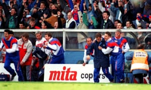 The final whistle blows and there's joy on the Palace bench and despair in the Liverpool dugout.