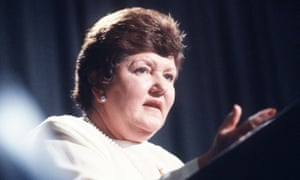 Joan Kirner, the former Victorian premier, at the National Press Club in 1994