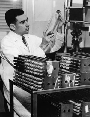 Hayflick in the lab in the 1960s.