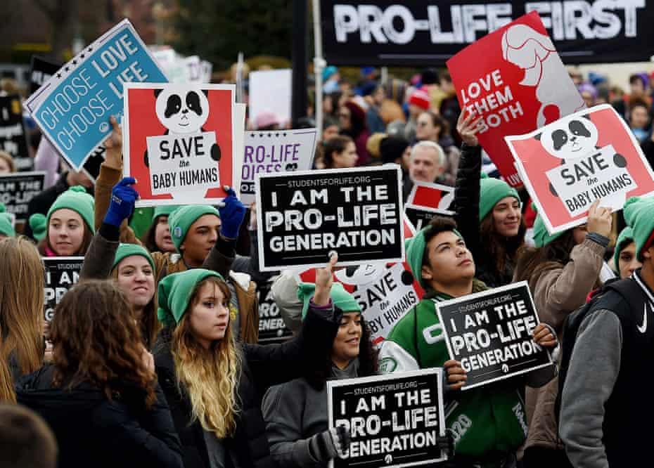 Anti-abortion activists in Washington on Friday.