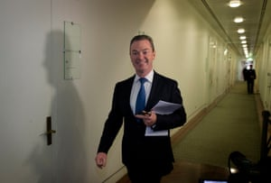 """Another day in paradise"" quipped Education minister Christopher Pyne as he passed the media on his way to the party room meeting on the morning after the change of leadership."