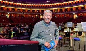 Alan Johnson at the Royal Albert Hall.
