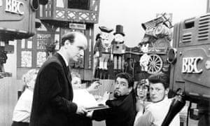 Bob Bura, centre, with Gordon Murray, left and John Hardwick, right, at work in the BBC studios.