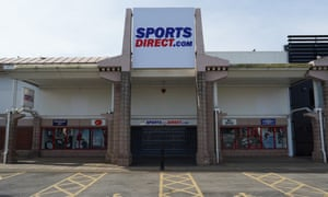 A shuttered Sports Direct store