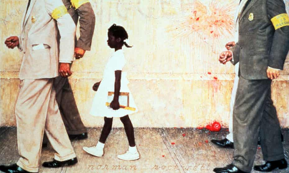 The Problem We All Live With by Norman Rockwell, 1964, an iconic image of the US civil rights movement.